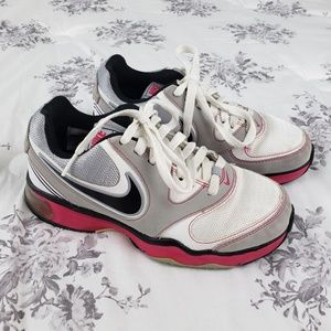 Nike Young Girls Sneakers Pink White Size 5